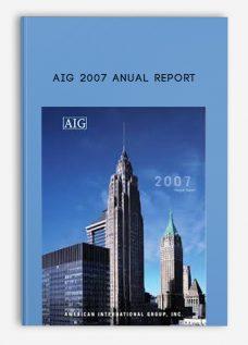 AIG 2007 Anual Report