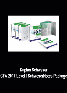 Kaplan Schweser – CFA 2017 Level I SchweserNotes Package