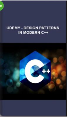 Udemy – Design Patterns In Modern C++
