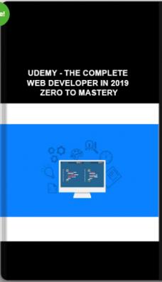 Udemy – The Complete Web Developer In 2019 – Zero To Mastery