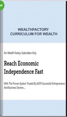 Wealthfactory – Curriculum for Wealth
