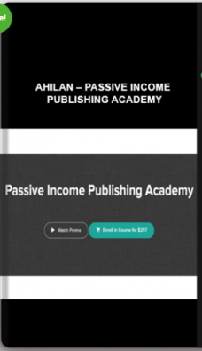 Ahilan – Passive Income Publishing Academy