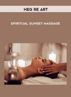 Spiritual Sunset Massage by Hegre Art