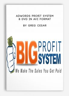 Adwords Profit System – 8 DVD in AVI Format by Greg Cesar