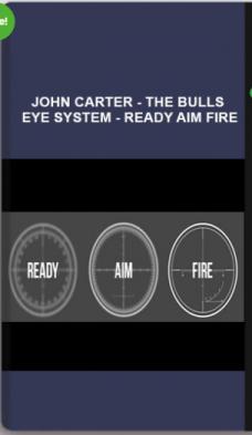 John Carter – The Bulls Eye System – Ready Aim Fire