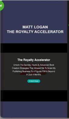 Matt Logan – The Royalty Accelerator