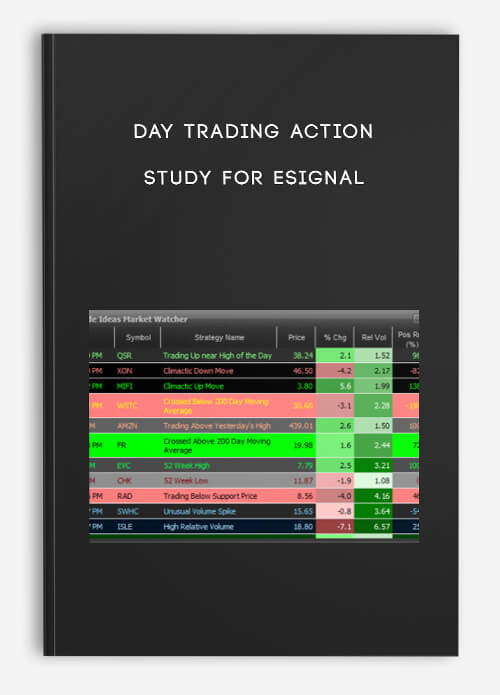 Day Trading Action Study for eSignal