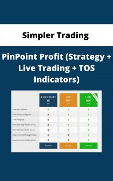 Simpler Trading – PinPoint Profit (Strategy + Live Trading + TOS Indicators)